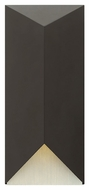 Hinkley 2185SK Vento Modern Satin Black Finish 8  Wide Outdoor Sconce Lighting
