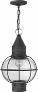 Hinkley 2202DZ Cape Cod Traditional Aged Zinc Exterior Pendant Lighting