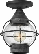 Hinkley 2203DZ Cape Cod Traditional Aged Zinc Outdoor Ceiling Lighting