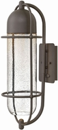 Hinkley 2384OZ Perry Modern Oil Rubbed Bronze Halogen Outdoor Wall Lamp