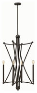 Hinkley 3634OZ Stella Modern Oil Rubbed Bronze Finish 38.25  Tall Mini Chandelier Light