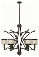 Hinkley 3636OZSH Stella Contemporary Oil Rubbed Bronze Finish 31.25  Wide Chandelier Light