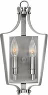 Hinkley 4492PL Fleming Polished Antique Nickel Wall Light Fixture