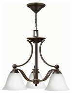 Hinkley 4653OB-OPAL Bolla Olde Bronze Finish 18  Tall Mini Chandelier Lighting