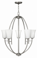 Hinkley 4705 Valley Contemporary Brushed Nickel Chandelier