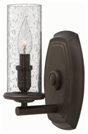 Hinkley 4780OZ Dakota Oil Rubbed Bronze Finish 5.75  Wide Wall Lamp