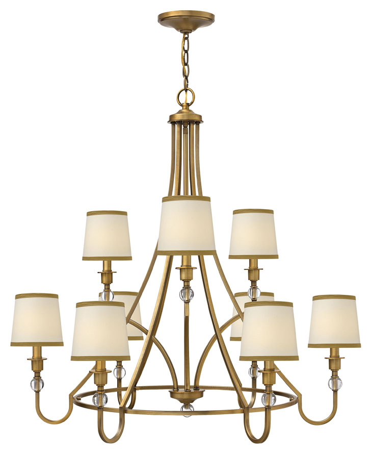 Hinkley 4878BR Morgan Large Transitional 35 Inch Diameter Ceiling – Transitional Chandelier