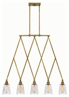 Hinkley 4935HB Gatsby Heritage Brass Finish 34  Tall Island Lighting