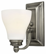 Hinkley 53580AN Claire 9 Inch Tall Transitional Antique Nickel Lamp Sconce