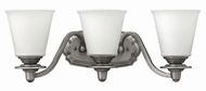 Hinkley 54263PL Plymouth Polished Antique Nickel 3-Light Bath Light Fixture