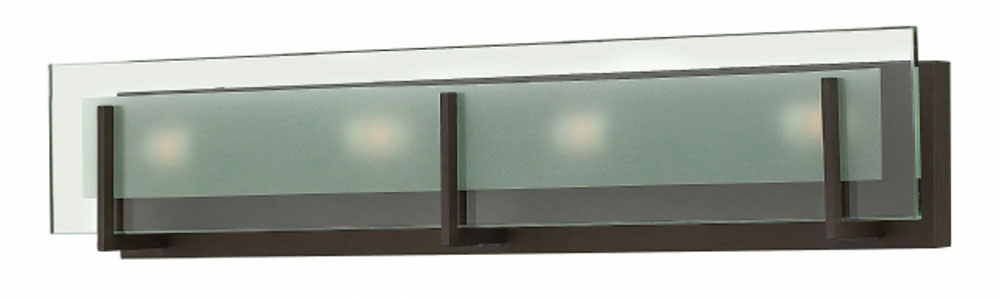 hinkley 5654oz latitude contemporary oil rubbed bronze 4 light bathroom vanity lighting