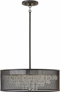 Hinkley FR38905BLK Fiona Contemporary Black 25  Drum Pendant Light