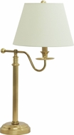 House of Troy B551-WB Bennington Weathered Brass Table Top Lamp