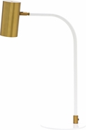 House of Troy C350-WB-WT Cavendish Modern Weathered Brass and White LED Table Light