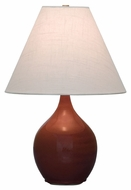 House of Troy GS200-CR Scatchard Copper Red Finish 13  Wide Table Lamp