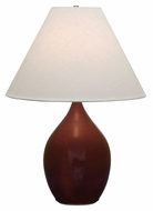 House of Troy GS400-CR Scatchard Copper Red Finish 20  Wide Table Lamp