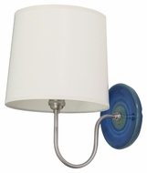 House of Troy GS725-BG Scatchard Blue Gloss Finish 13.5  Tall Wall Sconce