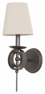 House of Troy LS202-MB Lake Shore Mahogany Bronze Finish 17  Tall Wall Light Fixture