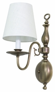 House of Troy LS203-AB Lake Shore Antique Brass Finish 16  Tall Wall Lighting Sconce
