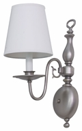 House of Troy LS203-SP Lake Shore Satin Pewter Finish 16  Tall Wall Mounted Lamp