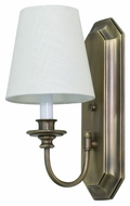 House of Troy LS208-AB Lake Shore Antique Brass Finish 6  Wide Wall Light Fixture
