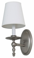 House of Troy LS213-SP Lake Shore Satin Pewter Finish 13.5  Tall Wall Light Sconce