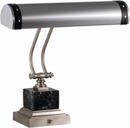 House of Troy P14-290-SNBLK Steamer Satin Nickel w/ Black Accents Piano Light
