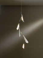 Hubbardton Forge 135001D-82-NO Quill Vintage Platinum Finish 16  Wide LED Lighting Pendant