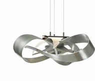 Hubbardton Forge 136520 Flux Vintage Platinum LED Hanging Lamp