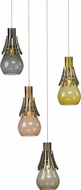Hubbardton Forge 161160 Colette Vintage Platinum Mini Hanging Light Fixture