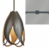 Hubbardton Forge 18877-TRIPLE-LINEAR Pental 3-Light Linear Drop Lighting Fixture