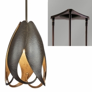 Hubbardton Forge 18877-TRIPLE-TRIANGLE Pental 3-Light Triangular Drop Ceiling Light Fixture