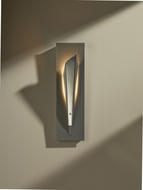 Hubbardton Forge 207440D-82-NO Quill Vintage Platinum Finish 15.5  Tall LED Lamp Sconce