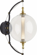 Hubbardton Forge 207903-31-YT517 Otto Sphere Brass w/ Black Wall Lamp