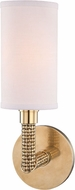 Hudson Valley 1021-AGB Dubois Aged Brass Wall Sconce