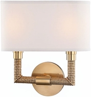 Hudson Valley 1022-AGB Dubois Aged Brass 2-Light Light Sconce