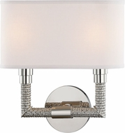Hudson Valley 1022-PN Dubois Polished Nickel 2-Light Wall Sconce Lighting