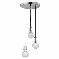 Hudson Valley 1103-PN Marlow Contemporary Polished Nickel Xenon Multi Hanging Pendant Light