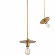 Hudson Valley 1160-AGB Walker Contemporary Aged Brass Mini Hanging Pendant Lighting