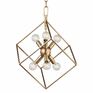 Hudson Valley 1215-AGB Roundout Contemporary Aged Brass Foyer Lighting