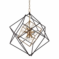 Hudson Valley 1222-AGB Roundout Contemporary Aged Brass Foyer Lighting