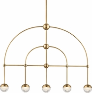Hudson Valley 1225-AGB Boca Modern Aged Brass LED Island Lighting
