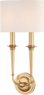 Hudson Valley 1232-AGB Lourdes Aged Brass 2-Light Wall Sconce Lighting