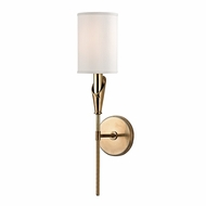 Hudson Valley 1311-AGB Tate Aged Brass Finish 19.75  Tall Wall Sconce