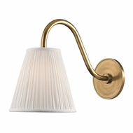 Hudson Valley 1610-AGB Remsen Aged Brass Finish 9  Wide Lighting Wall Sconce