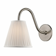 Hudson Valley 1610-SN Remsen Satin Nickel Finish 13.5  Tall Wall Mounted Lamp