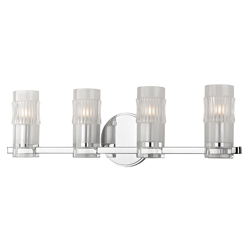 Hudson Valley 2024 PC Malone Modern Polished Chrome Xenon 4 Light Bath Light