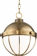 Hudson Valley 2312-AGB Sumner Contemporary Aged Brass Mini Pendant Lamp