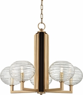 Hudson Valley 2415-AGB Breton Contemporary Aged Brass LED Ceiling Chandelier