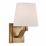 Hudson Valley 2461-AGB Clayton Aged Brass Finish 9  Tall Lighting Wall Sconce